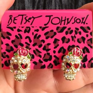 BETSEY JOHNSON~ Sugar Skull earrings